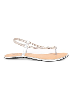 b8366887630d4 Buy Stone Embellished Toe Separator Sandals by Sindhi Footwear - Online  shopping for Sandals in India