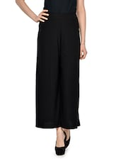 So Spacious Black Palazzo Pants - Miss Chase