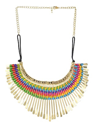 gold fringe necklace -  online shopping for Necklaces