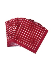 Set Of 20 Red Polka Dotted Paper Napkins - By