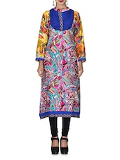 Multicolored Abstract Printed Cotton Kurta - By