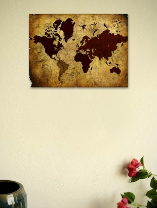 Vintage World Map 03 Poster