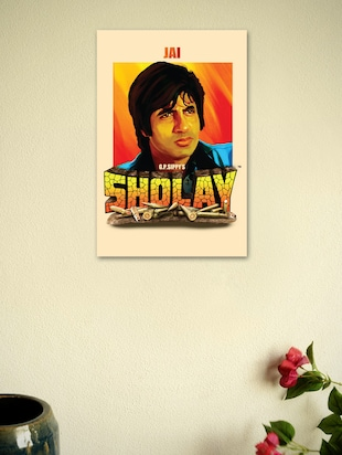 Sholay Movie Fine Art Poster-4