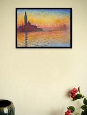 Sunset In Venice By Claude Monet Framed Poster - Seven Rays