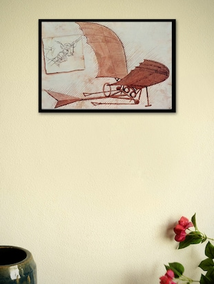 Flying Machine by Leonardo da Vinci Framed Poster