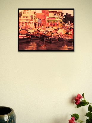 Colorful Banaras Framed Poster