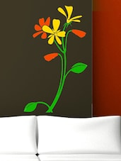 Bunch Of Flowers In Yellow  Wall Decal - Chipakk