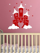 Kids Castle Kids Decal  Wall Decal In Red And White - Chipakk