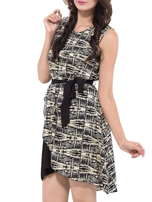 Black Printed Dress - 9668584 - Standard Image - 2
