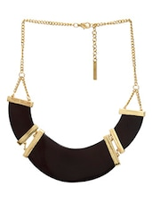 Black And Gold Statement Necklace - By