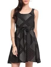 Black Printed Dress - Sweet Lemon