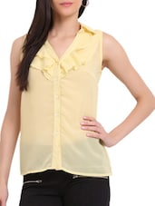 Light Yellow Ruffled Shirt - Sweet Lemon