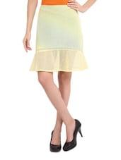 Lemon Yellow Sheer Skirt - Sweet Lemon
