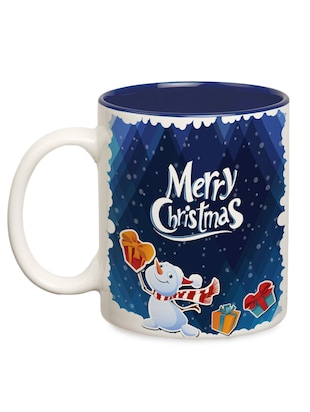 multicolored ceramic 'merry Christmas' mug