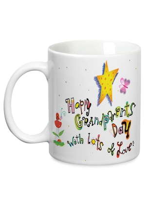 multicolored ceramic 'Happy Grandparents Day' mug