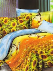 Sunflower Printed Amazing Bed Linen With Pillow Covers - Skap