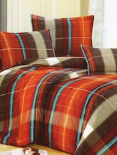 Bright In Red Checkered Print Bed Linen With Pillow Covers - Skap