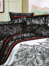 Love For Paisley Print Black And White Bed Linen With Pillow Covers - Skap