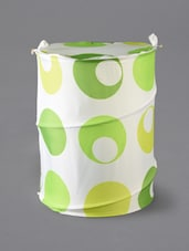 Green Circle-in -circle Print Laundry Bag - Skap
