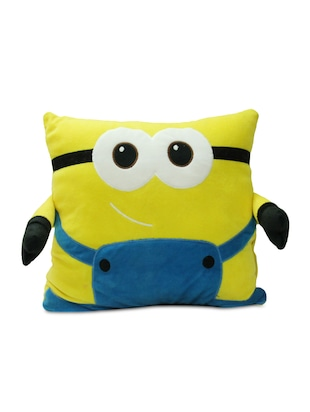 yellow cartoon velvet cushion