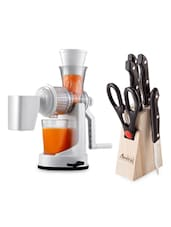 Combo Of Juicer & Knife Block Set - 01 - Amiraj