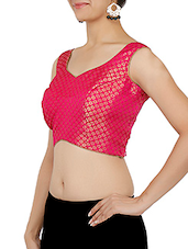 Pink Jacquard Blouse - By