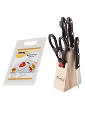 Combo Of Chopping Board & Knife Block Set - 03 - Amiraj
