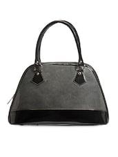 Solid Grey Matt Effect Handbag - Utsukushii