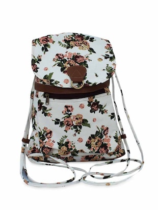 multicolor canvas backpack