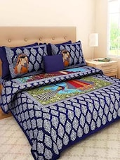 Pure Cotton Jaipuri  Double Bed Sheet With 2 Pillow Cover -  online shopping for bed sheet sets