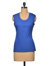 Blue Colour Viscose Top - LA ARISTA