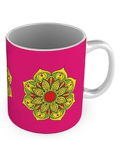 Pink Ceramic Printed Mug (300 ml) -  online shopping for Mugs