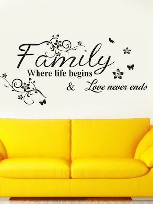 Wall Decals Wall Quote Family Where Life Begins - 9725187 - Standard Image - 2
