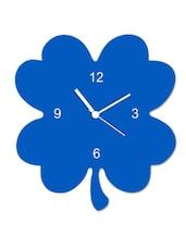 Light Blue Flower Shaped Wall Clock - Encore