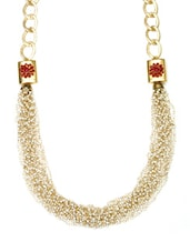 Gold Embellished Statement Necklace - By