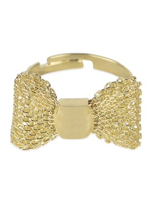 Trendy Elegant Gold Bow Ring