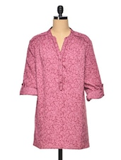 Pink Printed Polyester Tunic - Oxolloxo