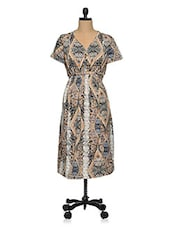 Multicolored  Polyester Plus Size Printed Dress - Oxolloxo
