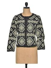 Trendy Black Cotton Jacket - Oxolloxo