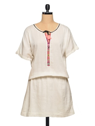 Ethereal Off-White Cotton Dress