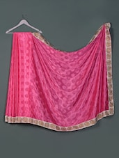 Pink Silk Crepe Jacquard Designer Party Wear Saree - Aakriti