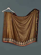 Brown Gold Georgette Designer Party Wear Saree - Aakriti
