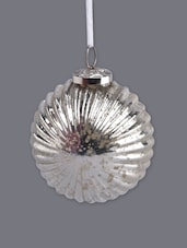 Christmas Hanging Striped Glass Ball Ornament - Serendipity