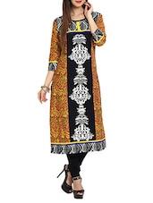 Multicolored  Embroidered Long Kurta - Aaboli
