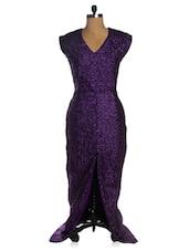 Purple Party Long Flowy Dress - VEA KUPIA