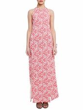 White And Pink Poly-Elastane Dress - By