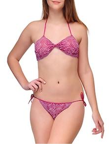 4210e5c22a Urbaano ura1001s Pink Satin Bra And Panty Set - Best Price in India ...