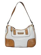 White Leatherette Shoulder Bag - Bags Craze
