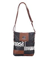 Animal Print Leatherette Sling Satchel - Bags Craze