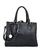 Black Leather Tote - Bags Craze